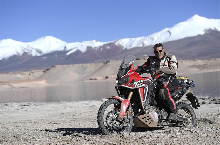 Honda Africa Twin dosiahla nezvyčajné výšiny: takmer 6000 m nad morom