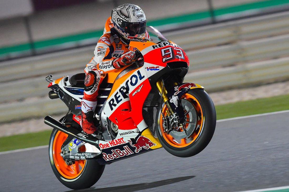 Marc Marquez - trénigy MotoGP Katar 2017