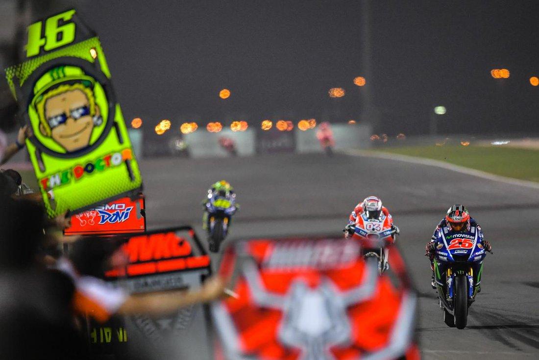 Maverick Vinales, Andrea Dovizioso, Valentino Rossi - MotoGP 2017 - VC Katar