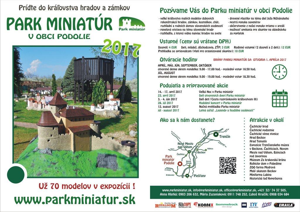 Park Miniatúr, Podolie, Slovensko - Bod záujmu