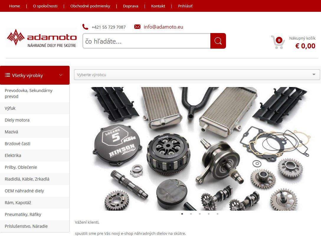 skutersk.sk - Nový e-shop zameraný na náhradné diely a doplnky na skútre rôznych značiek
