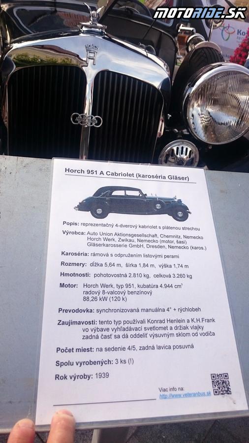 Horcg 951 A Cabriolet 1939 - Zemplín veterán rallye 2017