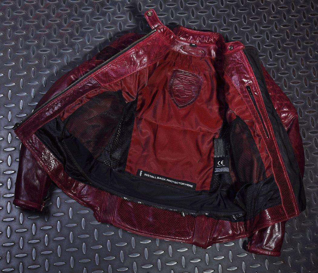 4SR kožená moto bunda dámska Scrambler Lady Wine