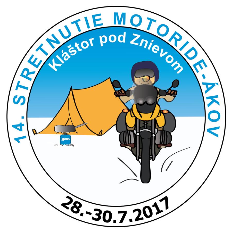 Pozvánka: 14. Stretnutie motoride-ákov - Motoride Tour 2017, 28. - 30. 7. 2017, Kláštor pod Znievom