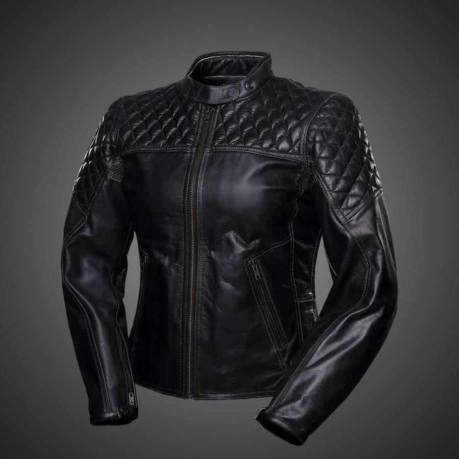 4SR dámska kožená bunda na motorku Scrambler Lady Petroleum