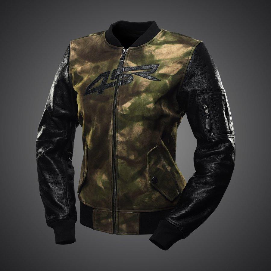 4SR dámska kožená bunda na motorku Bomber Camo Lady