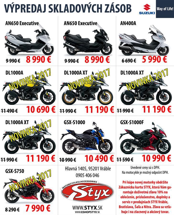 0888254da25f9 Výpredaj skladových zásob Suzuki v Styx Vráble!: motoride.sk