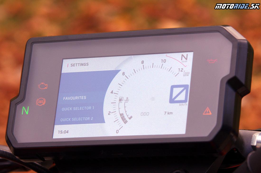 Plne farebná TFT prístrojovka - KTM Duke 390 2017