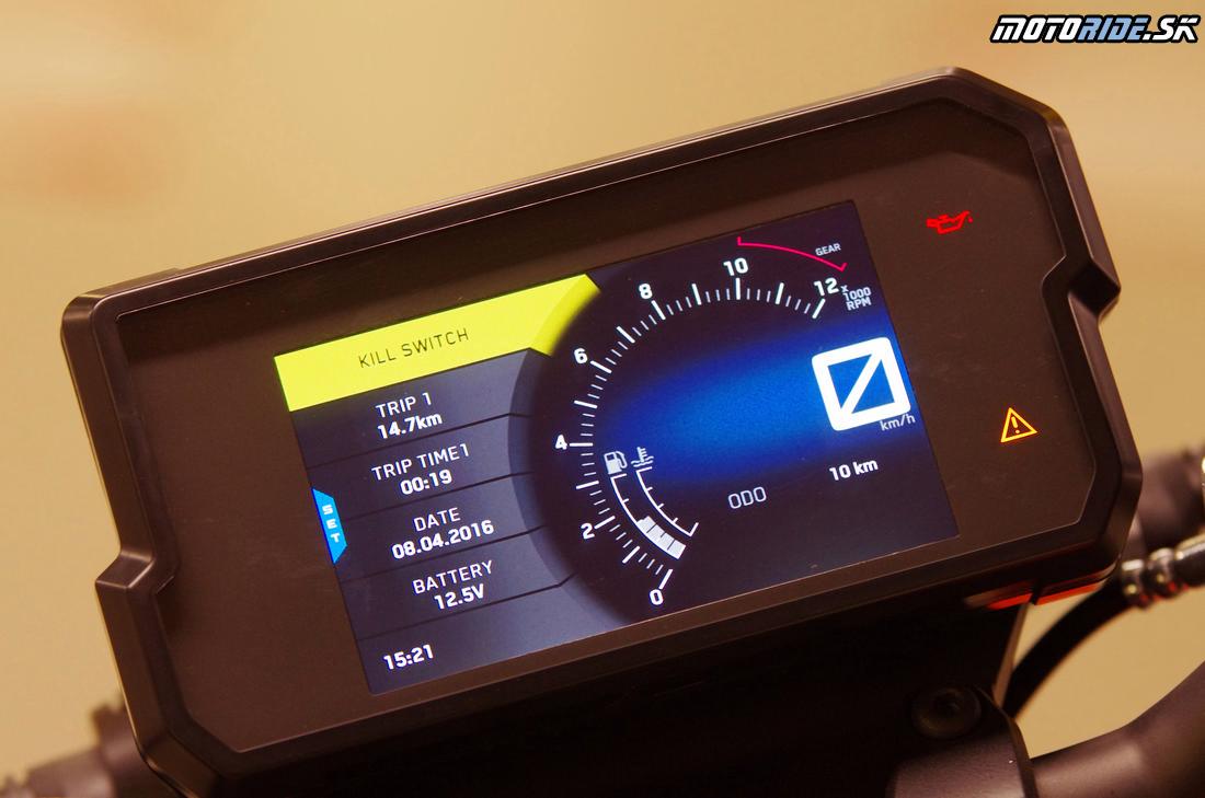 Nočný režim - Plne farebná TFT prístrojovka - KTM Duke 390 2017
