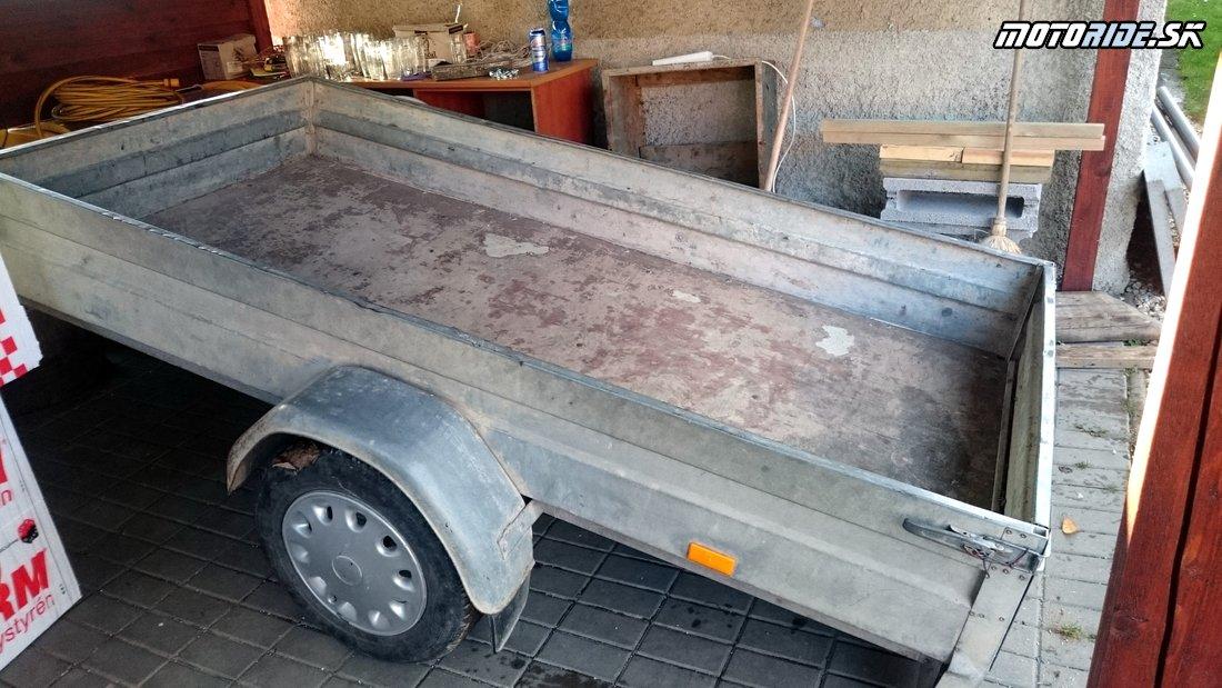 Príprava prívesného vozíka na transport motoriek - Prípravy v plnom prúde:  Na Afrikách do Afriky