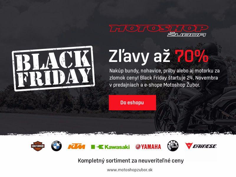 Black Friday v Motoshop Žubor