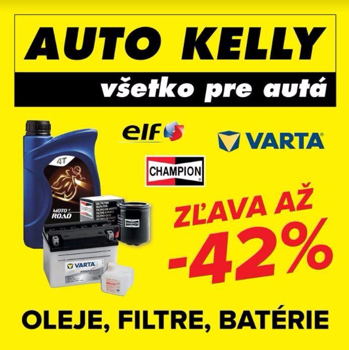 Náhradné diely: filtre, oleje, batérie vo zvýhodnených cenách od Auto Kelly