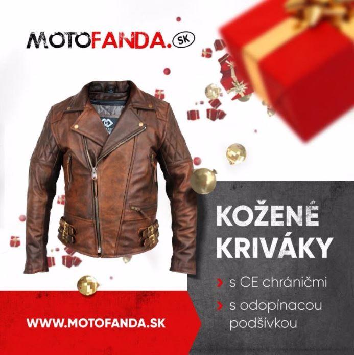 """Kožené bundy """"kriváky"""" od spoločnosti Motofanda"""