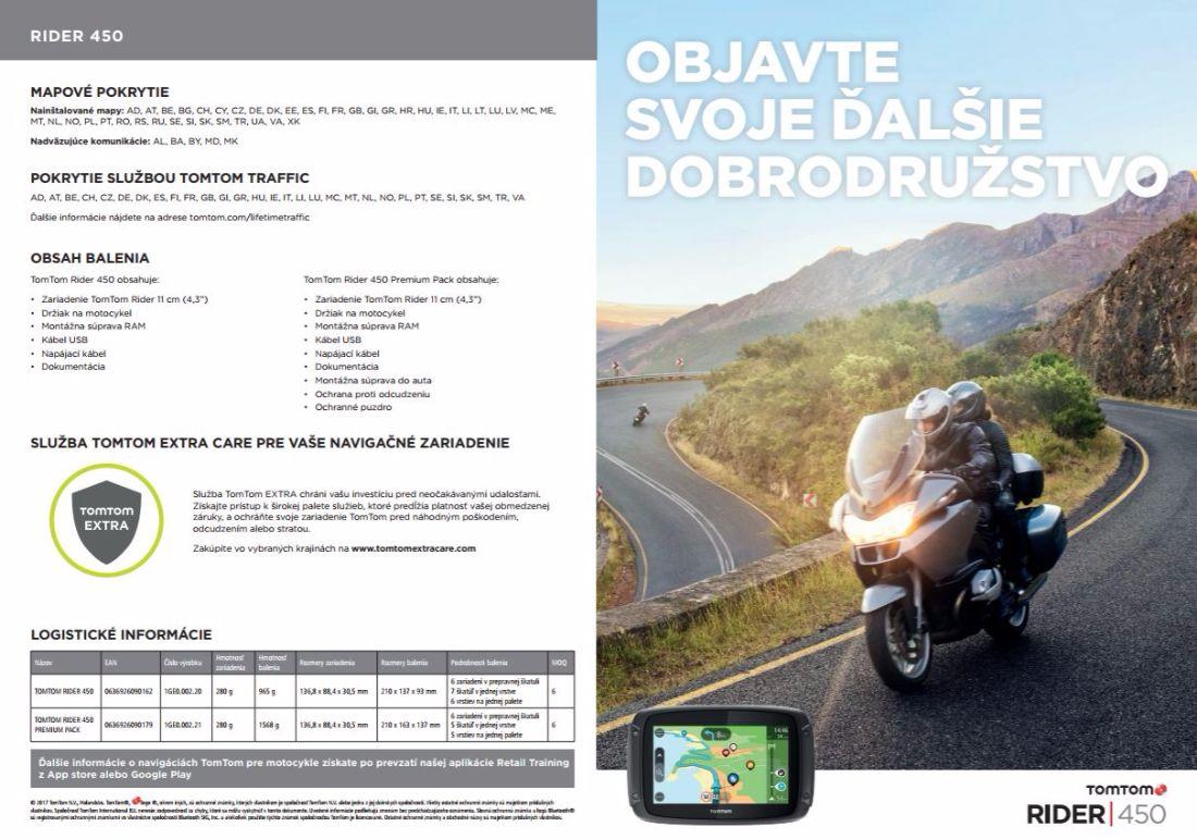 15 % zľava na navigácie TomTom Rider 450 a TomTom Rider 450 PremiumPack od DSI Slovakia