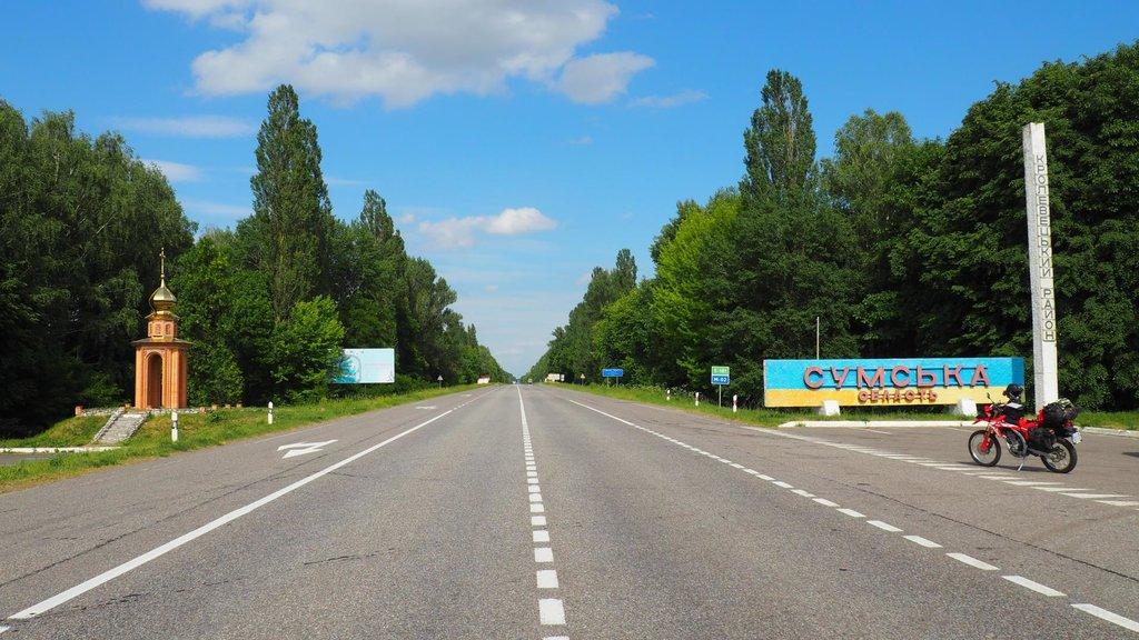 Sumská oblasť. Ruská hranica už je neďaleko