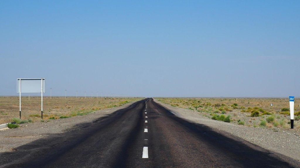 Typická kazašská cesta