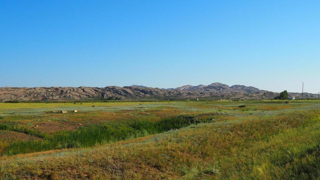 Okolie je na východe Kazachstanu prekvapivo zelené