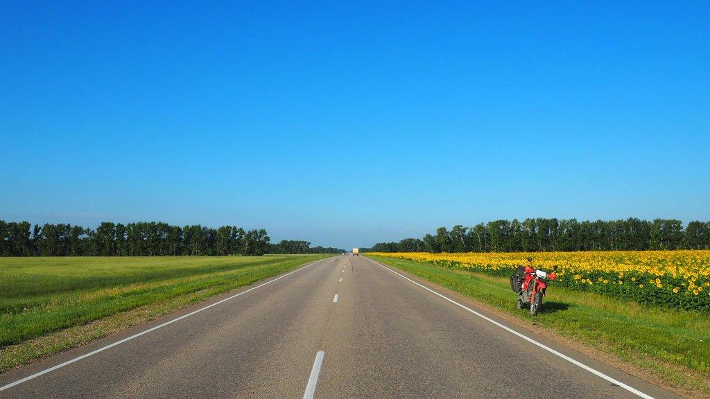 Slnečné ráno v Rusku. Cestou do Barnaulu