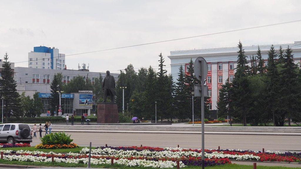 Barnaul a všadeprítomný Lenin