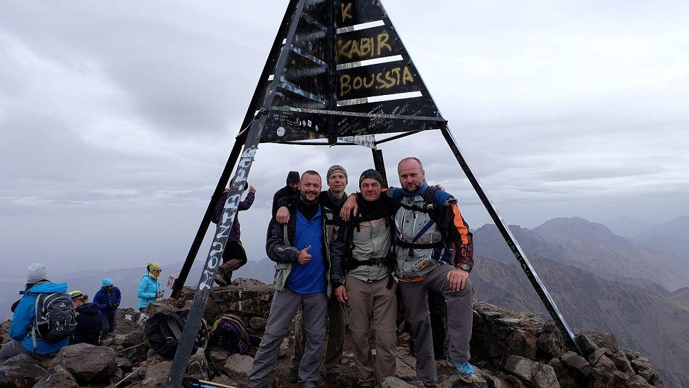 Vrcholová fotka, 4.167m - Djebel Toubkal