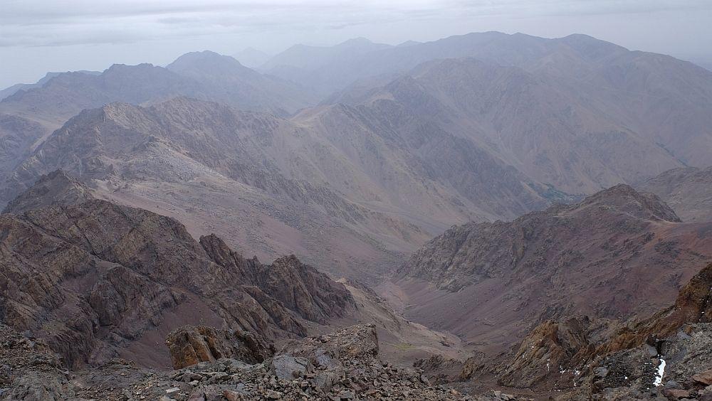 Pohľad z hora - Djebel Toubkal