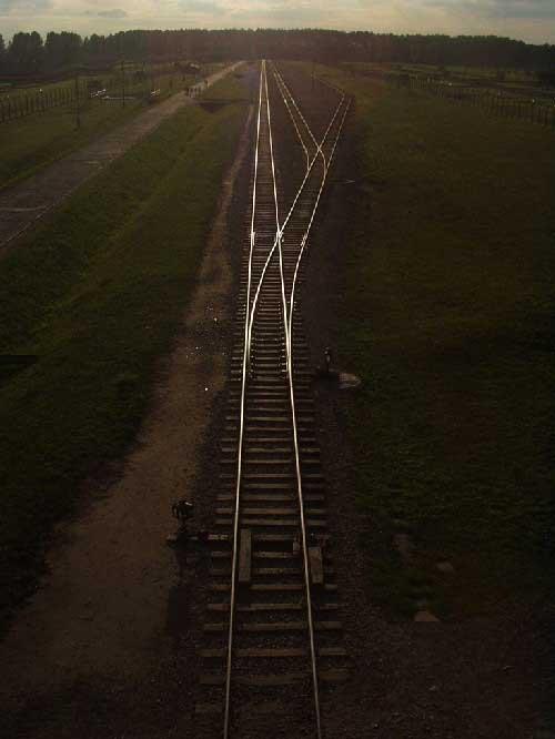 Koľaje v Auschwitz II Birkenau