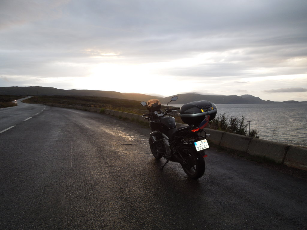 Cestou z Nordkappu okolo pólnoci