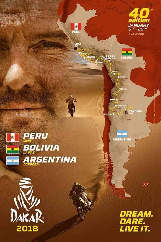 Dakar 2018 - mapa trasy