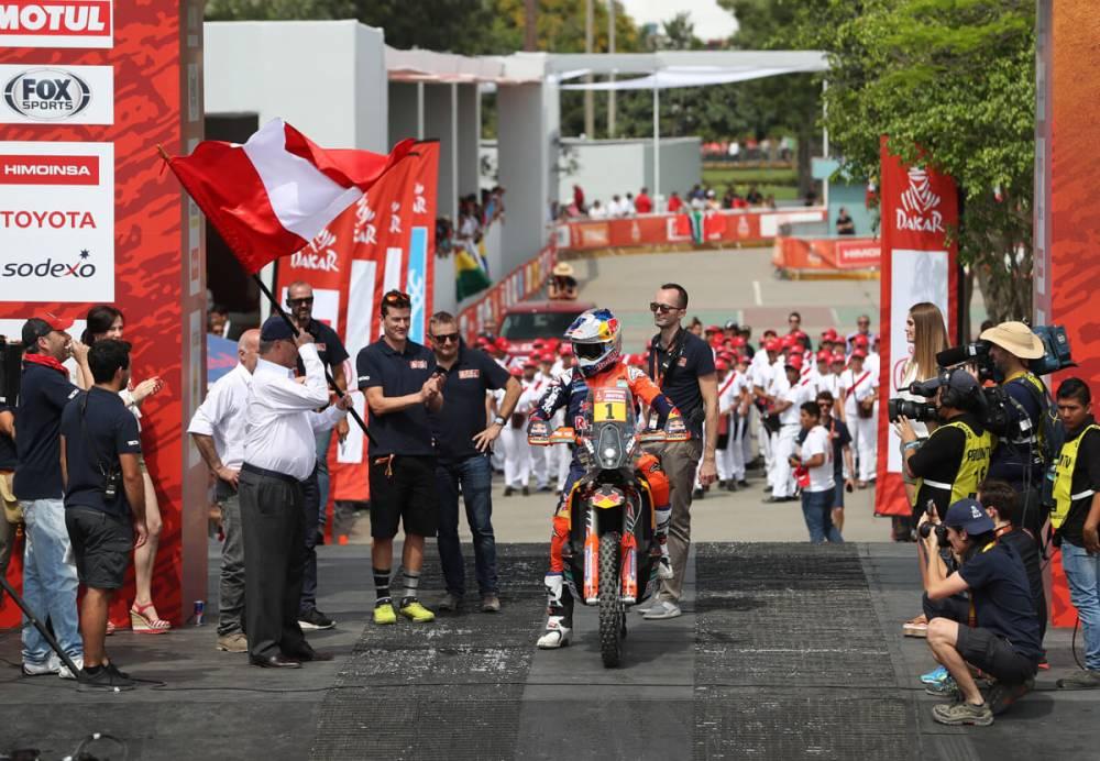 01 SAM SUNDERLAND (GBR), KTM - Dakar 2018, Start Podium, Lima, Peru 6.1.2018 - Photo Antonin Vincent / DPPI © Antonin Vincent / DPPI