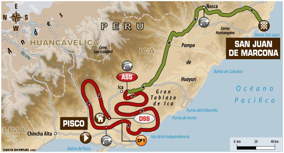 Dakar 2018 - 3. etapa - Pisco - San Juan de Marcona