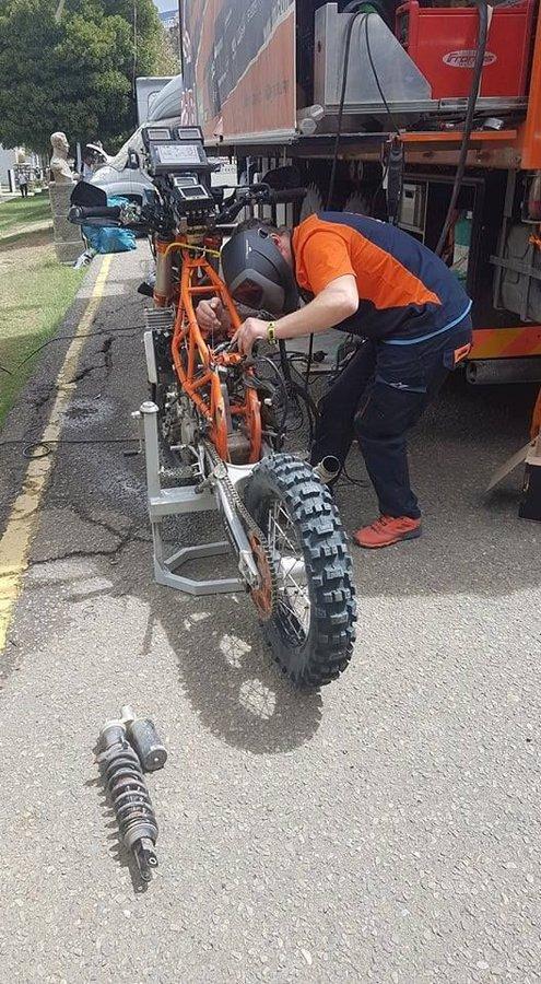 Servis na motorke - Štefan Svitko - Dakar 2018 - deň voľna