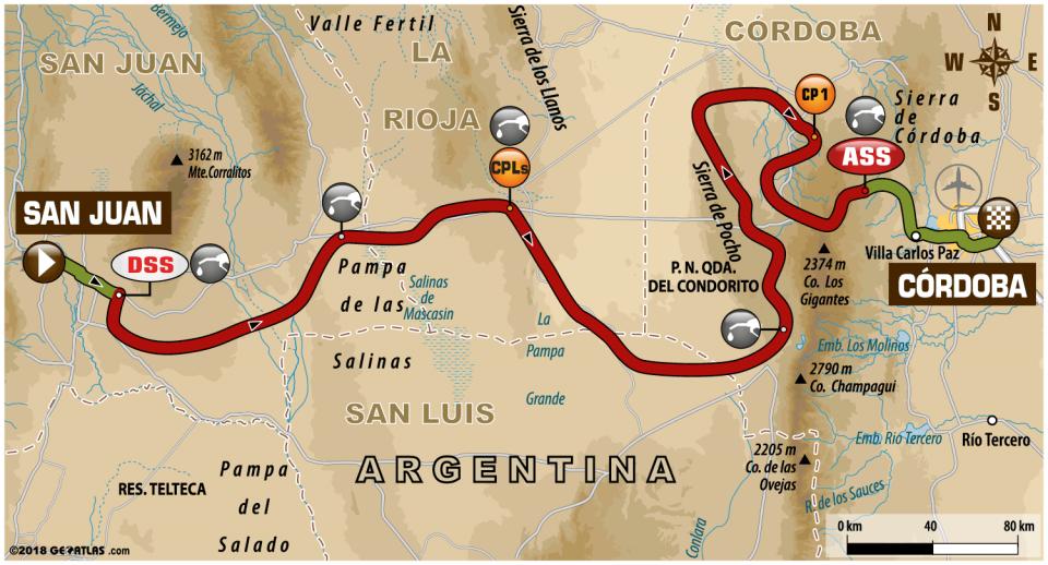 Dakar 2018 - 13. etapa - mapa