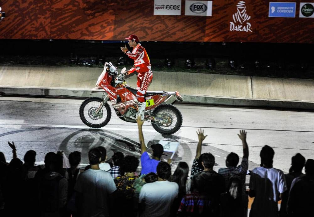 Gerard Farres Guell (ESP) v cieli - Dakar 2018  - 14. etapa
