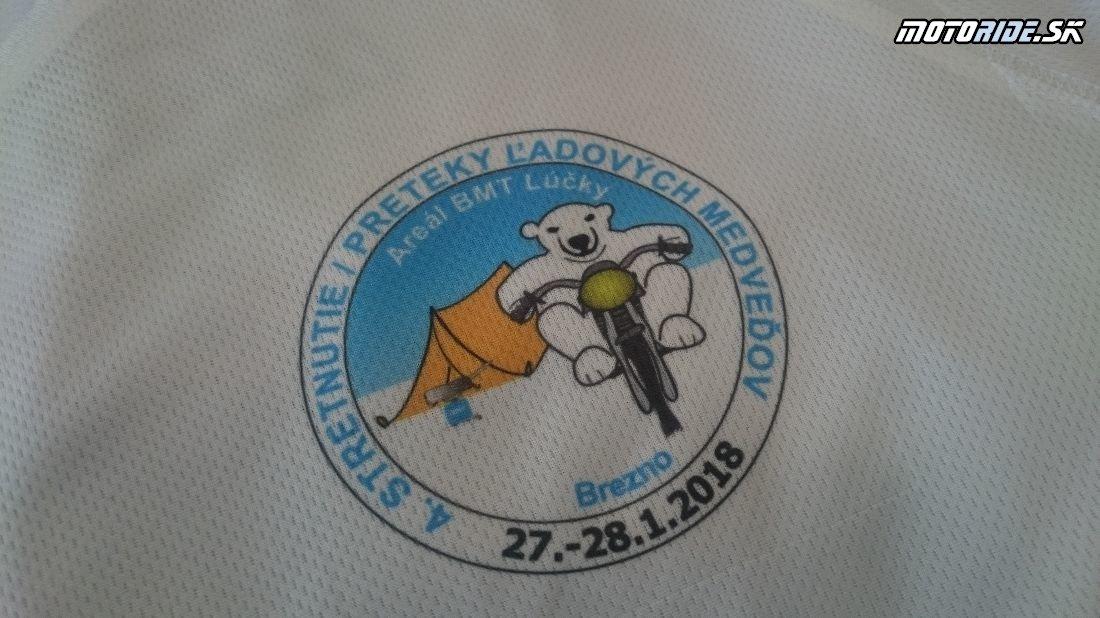 Tričko potlač - Pozvánka: Stretko ľadových medveďov 2018, Brezno - motorky, zima, sneh, preteky, pioniere a skvelá zábava