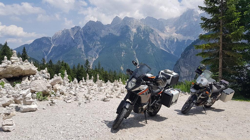 KTM 1190 Adventure a slovinské Alpy