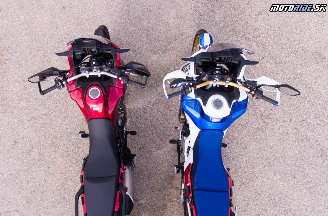 Väčšia nádrž - 24,2 l  - vpravo je Honda CRF1000L Africa Twin Adventure Sports 2018