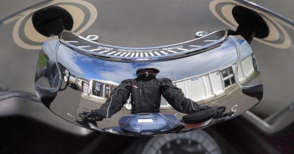 Predstavujeme: Riderscan - centrálne spätné zrkadlo