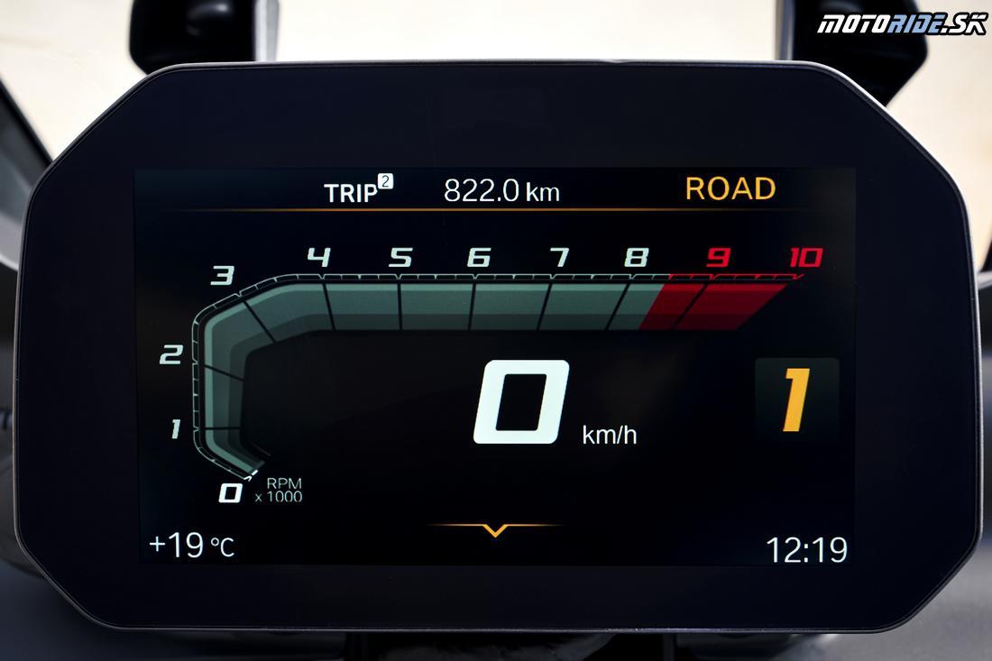 Voliteľná farebná prístrojovka BMW F750/850 GS 2018