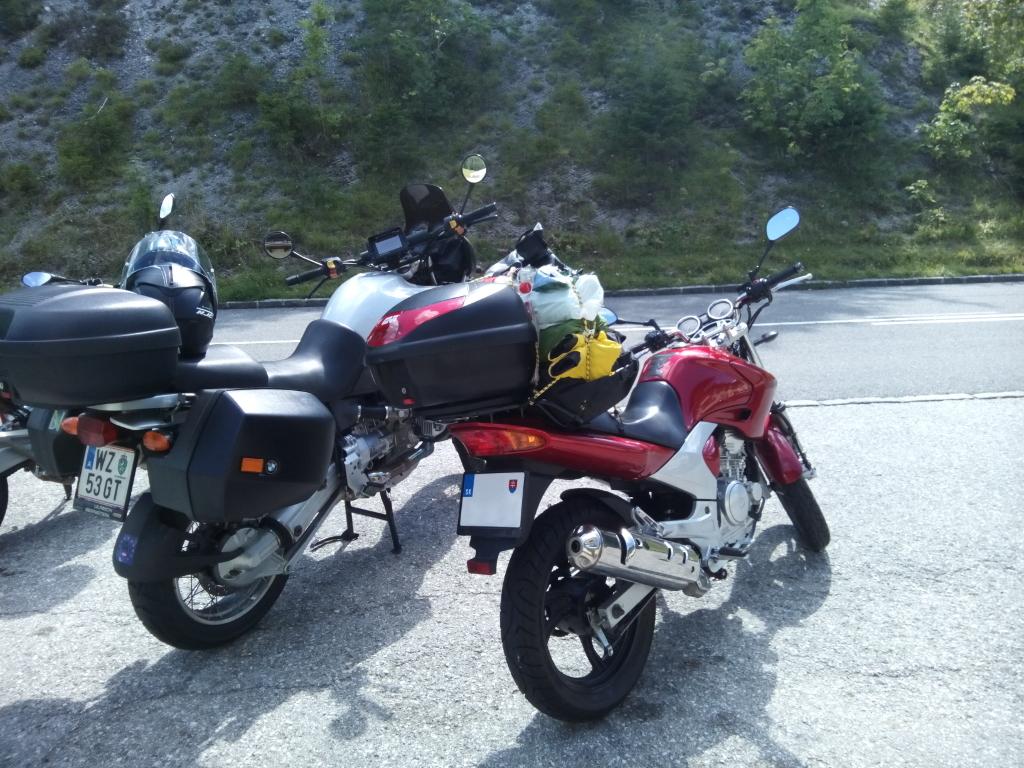 S YBR na Mariazell - Yamaha YBR 250