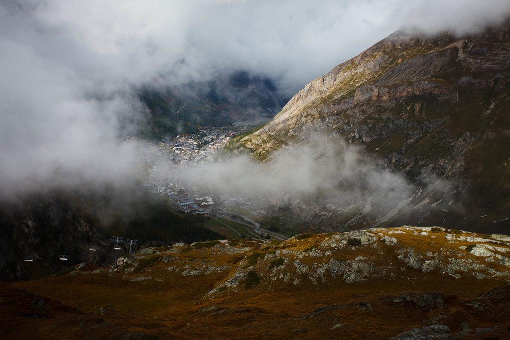 Pohľad do lyžiarskeho strediska Val-d'Isère.
