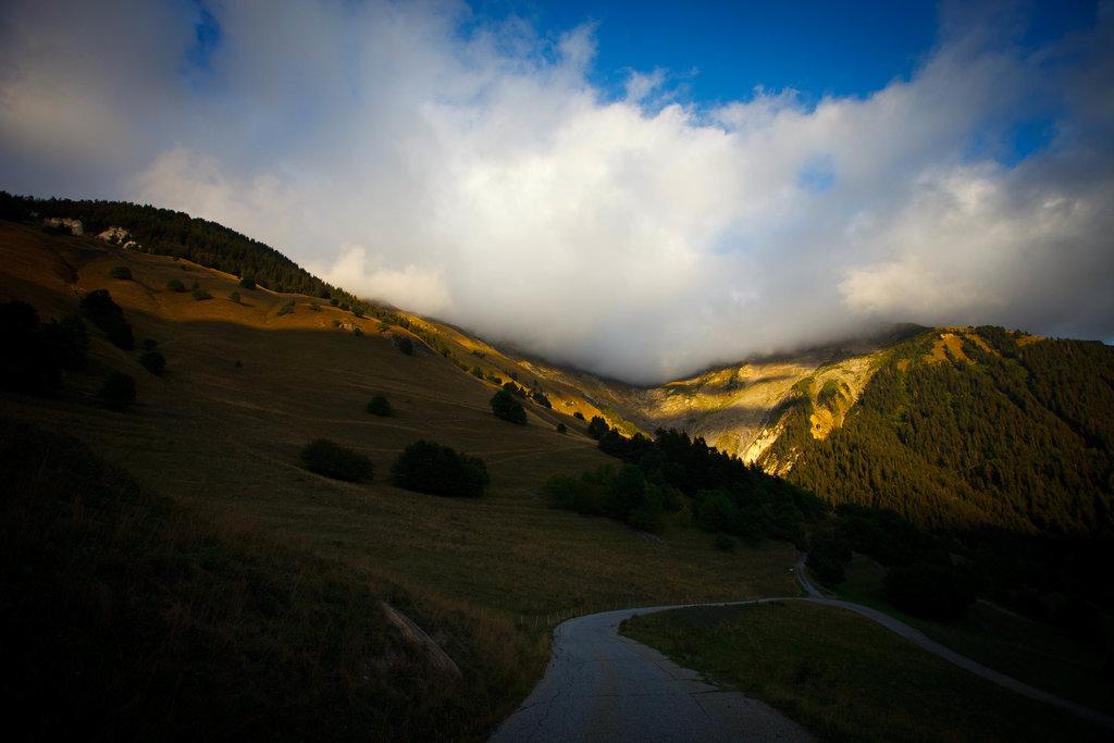 Cestou z Col de Chaussy.
