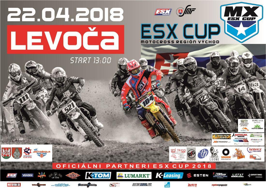 Plagat ESX CUP 2018 - regionálny pohár Východ  Levoča