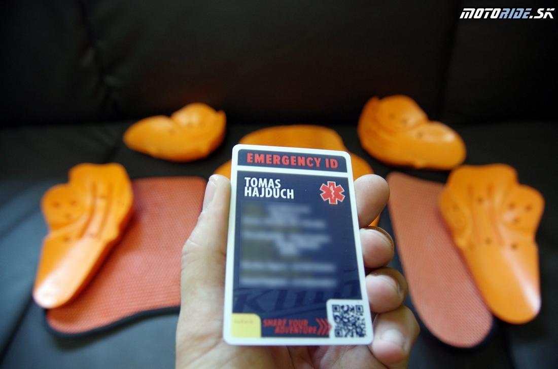 ID karta s údajmi pre prípad núdze - Skúsenosti: nepremokavě adventure oblečenie Klim Badlands Pro po 2 rokoch