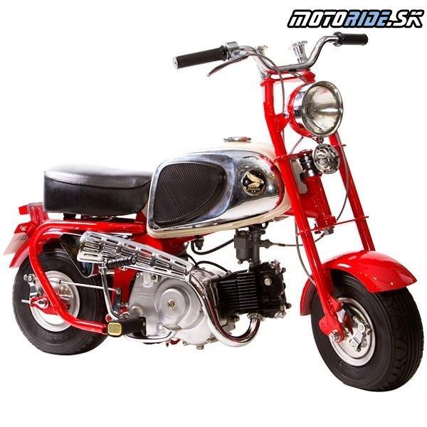 Honda Monkey 1963 - Prvý model určený na prevádzku na verejných komunikáciách – vyvážal sa do Severnej Ameriky a do Európy.