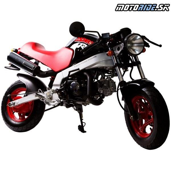 """Honda Monkey 1987 - Model """"R"""" s dvojitým rúrkovým rámom a prednou hydraulickou kotúčovou brzdou"""