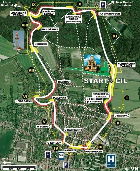 Roadracing okruh Hořice - 300 zatáček Gustava Havla a Česká Tourist Trophy, Česko - Bod záujmu
