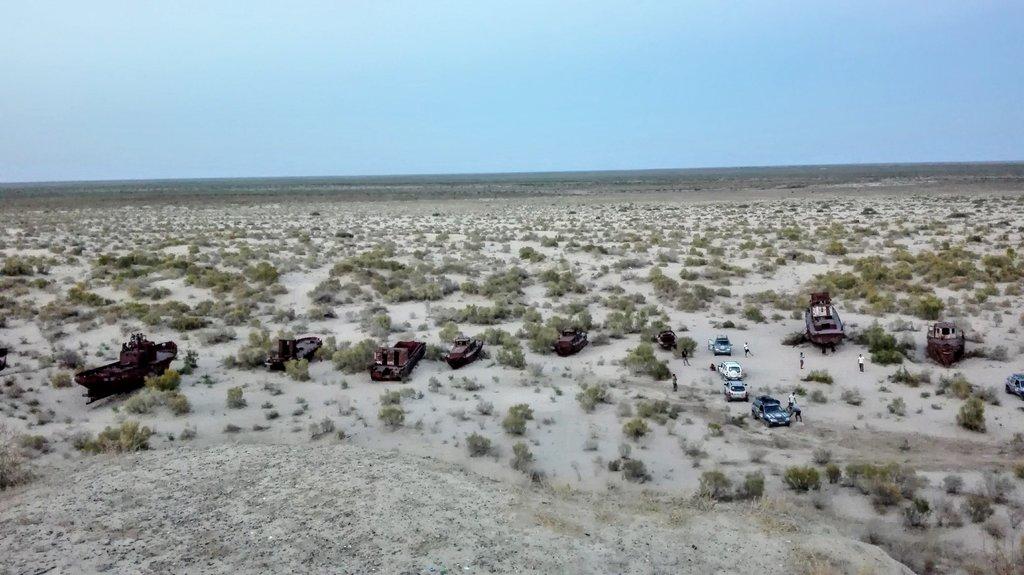 kedysi pobrežie Aralského jazera