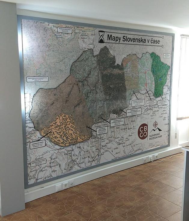 Slovenské múzeum máp, Kynceľová, Slovensko - Bod záujmu