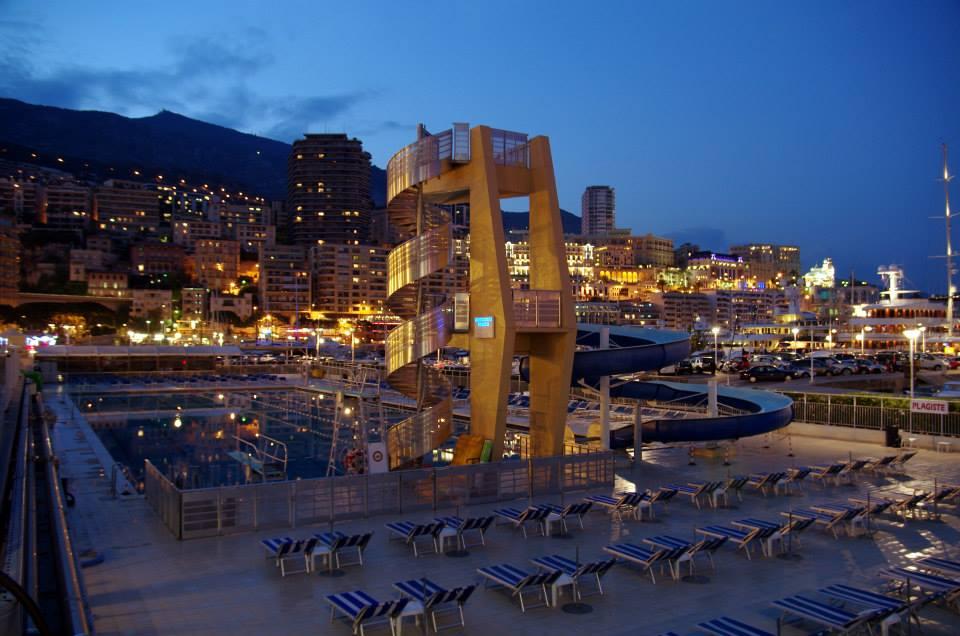 Bazén - Monako, mestský okruh F1, Monako - Bod záujmu