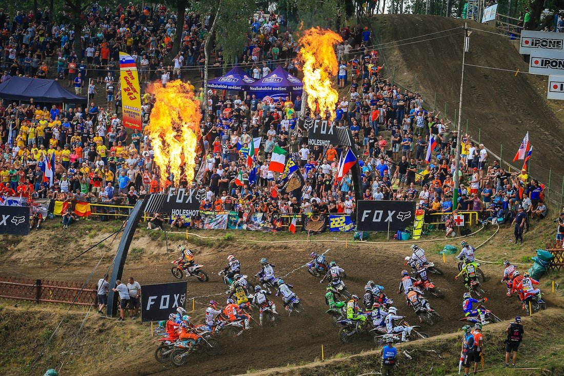 Štart Loket 2018 MX2 Race2
